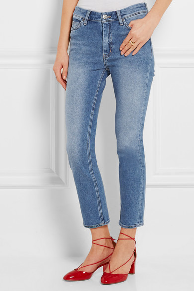 M.I.H JEANS Niki cropped mid-rise skinny jeans (£215)