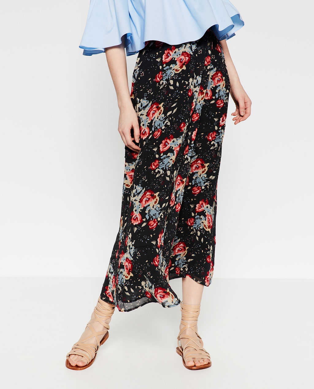 ZARA Long Printed Skirt 39.99 GBR