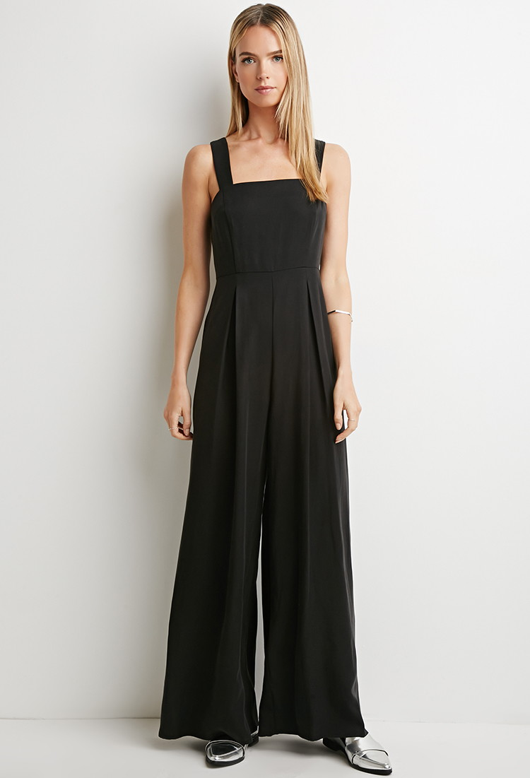 Forever 21 front back additionalPleated Wide-Leg Jumpsuit Pleated Wide-Leg Jumpsuit £24.00