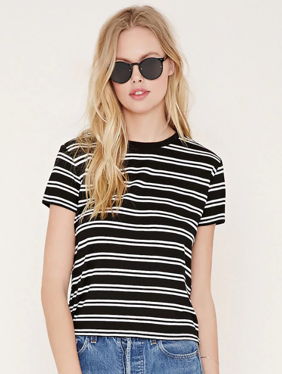 Forever 21 Boxy Stripe Tee ($11)