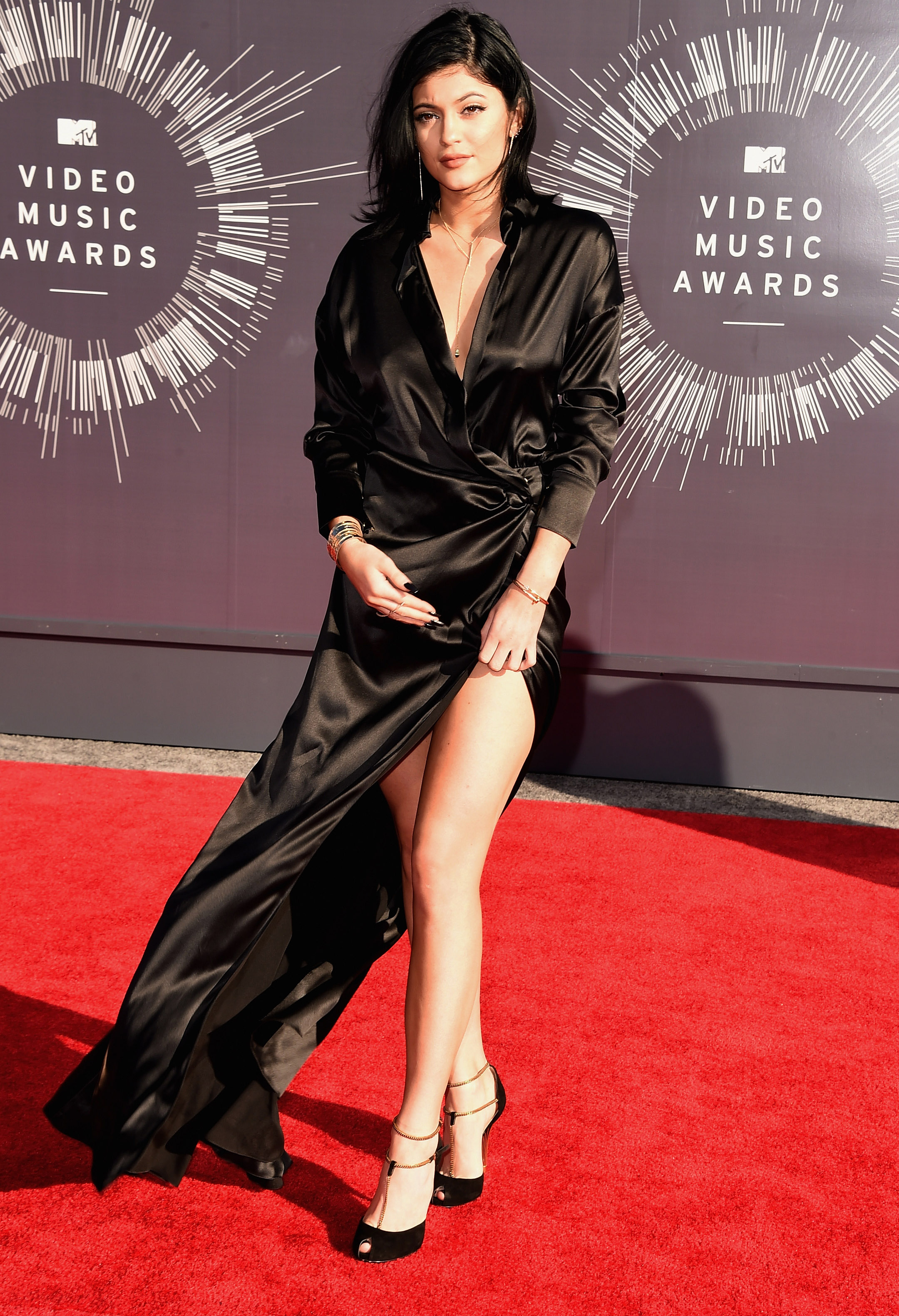 TV personality Kylie Jenner attends the 2014 MTV Video Music Awards at The Forum on August 24, 2014 in Inglewood, California. (Photo by Steve Granitz/WireImage)