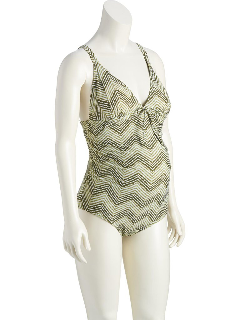 Old Navy Shirred Center-Tie Swimsuit ($21)
