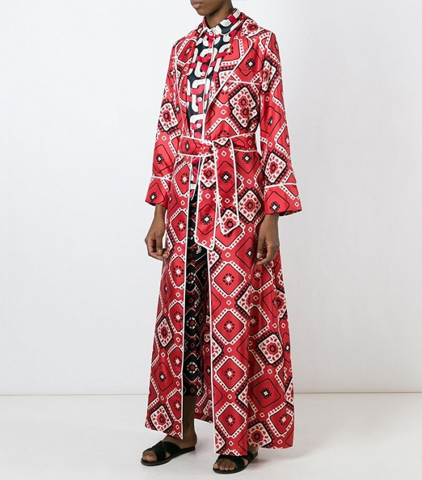 For Restless Sleepers Printed Silk Dressing Gown, $701