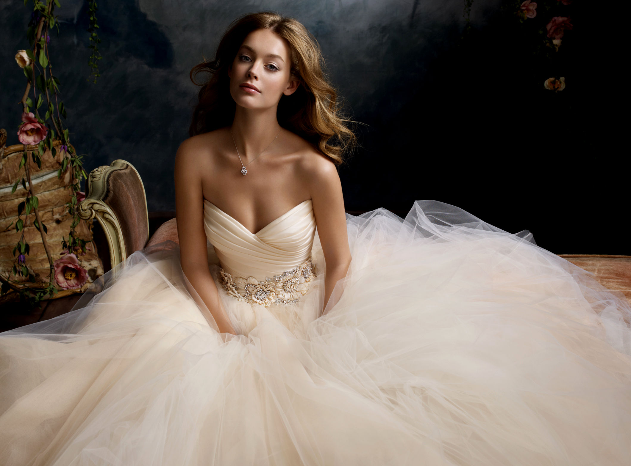 tulle wedding gowns