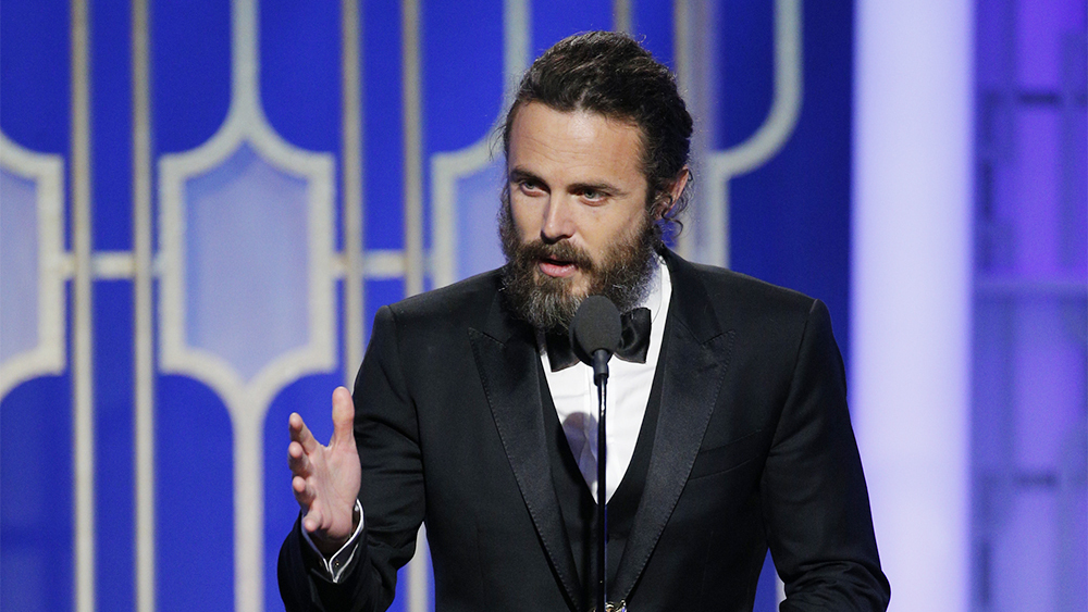 74th ANNUAL GOLDEN GLOBE AWARDS -- Pictured: Casey Affleck, Winner, Best Actor, In a Motion Picture - Drama, at the 74th Annual Golden Globe Awards held at the Beverly Hilton Hotel on January 8, 2017 -- (Photo by: Paul Drinkwater/NBC)